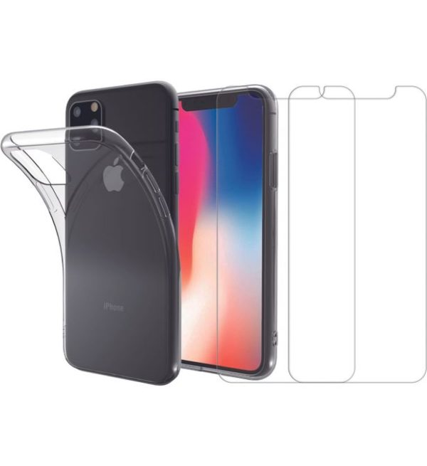 pack-survitre-verre-trempé-et-coque-transparente-iphone-11